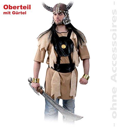 Kostüm Wikinger Erwachsene Für Krieger - KarnevalsTeufel Kostüm Barbar Wikinger Nordmensch Krieger Eroberer Germane Kostüm für Erwachsene (XX-Large)