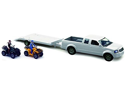 new-ray-1-20-pick-up-truck-w-trailer-camping-adventure-set-by-newray