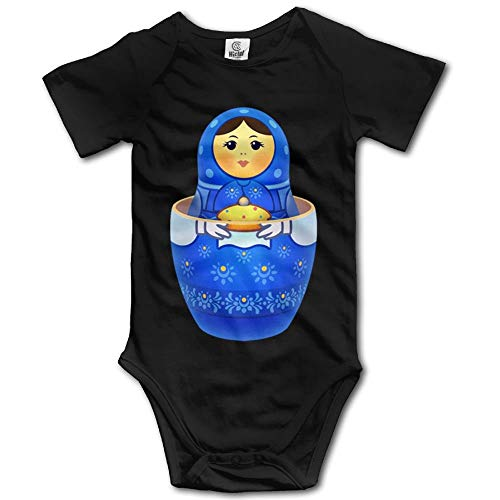 Azfaiop Russian Doll Baby Romper Girl Boy Short Sleeve Clothing Set for Newborn Jumpsuits Rompers -