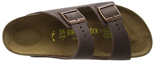 Birkenstock Arizona Leder, Mules mixte adulte Marron (Habana/Ls Softy Comfort)