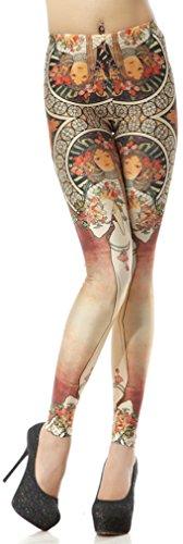 Thenice - Legging - À Fleurs - Femme - Tela Pi Sting
