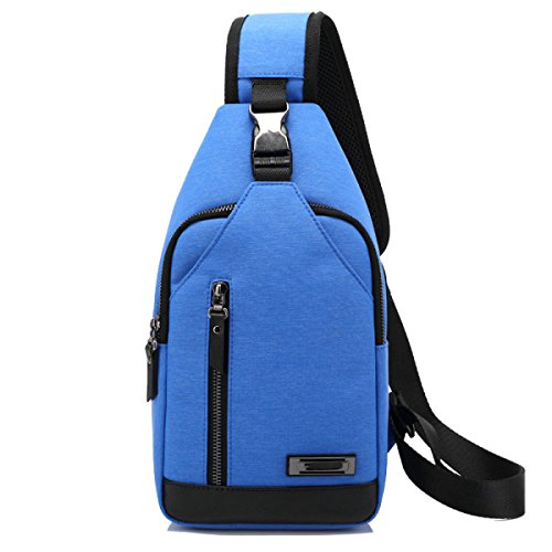 Uomo Oxford Cloth Multifunzionale Impermeabile Antifurto Wild Casual Messenger Messenger Bag Blue
