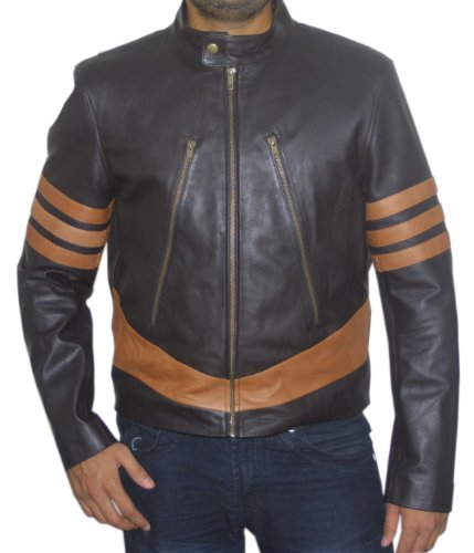 X-Men Wolverine Logans XO Replica Real Leather Jacket (Medium)