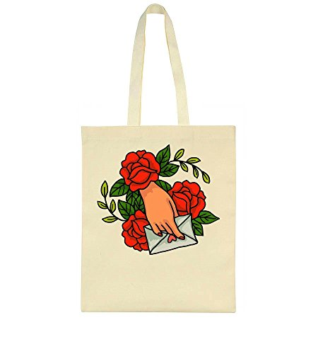idcommerce Hands Writing Love Letter Ornamented With Roses Tote Bag