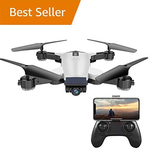 WANGKM RC Drone Telecamere, 720 P HD FPV Doppia Fotocamera 120 ° FOV RC Quadricottero, Altitude Hold, modalità Headless, 3D Flip, Batteria Modulare, per Principianti Bambini e Adulti,White