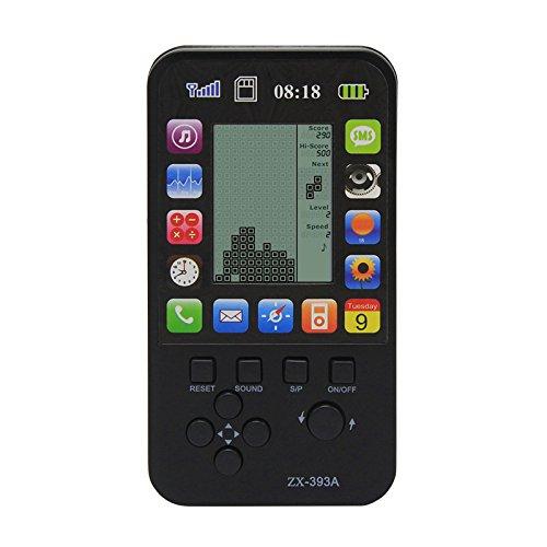 Handheld-Konsole für Kinder mit 23 integrierten Tetris-Spielen, klassisch, intellektuell, mit Apple-Skin