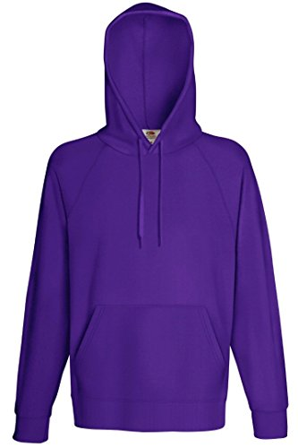 Fruit of the Loom – Felpa con cappuccio da uomo felpa Purple