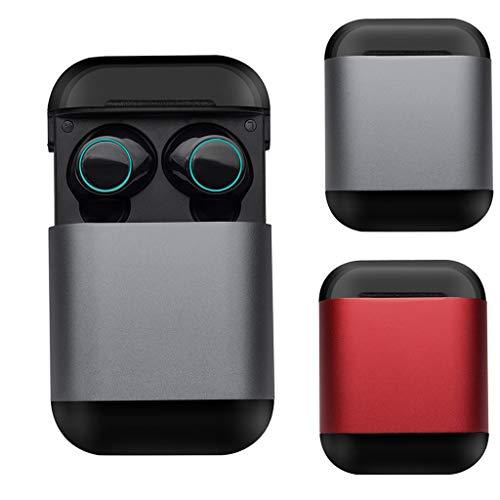 bingT Bluetooth Kopfhörer, TWS Bass Stereo Mini In Ear Ohrhörer, Kabellos Noise Cancelling Sport Kopfhörer mit Ladebox Arbeiten Sie mit Allen Bluetooth-fähigen Mobilgeräten (Grau) (In-ear-telefone, Cancelling Noise)
