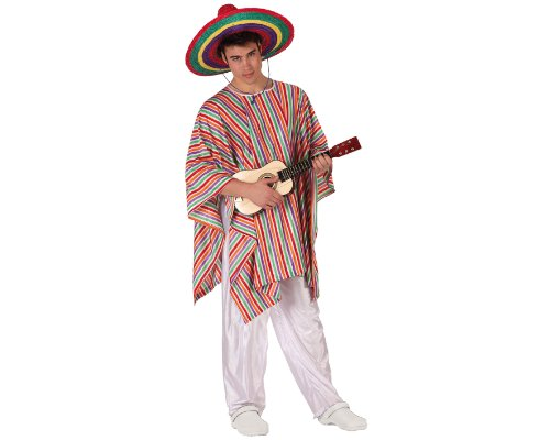 Imagen de atosa  disfraz de mejicano para hombre, talla m/l 19539