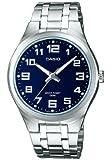 Casio - MTP-1310D-2BVEF - Montre Homme - Quartz Analogique - Cadran Bleu - Bracelet Acier Argent