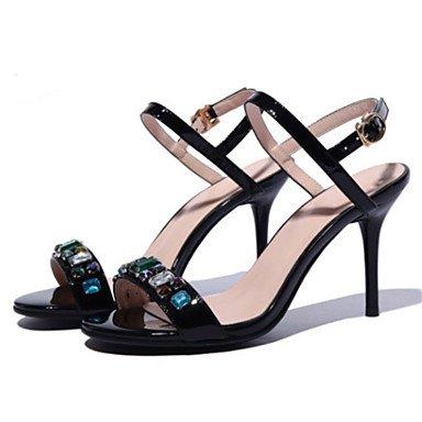Casual Heel Sandali Nero Estivo Punta Per Stiletto Scarpe Donna Comfort SANMULYH Nero SvqnCRpCw