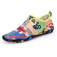 feiXIANG Damen Schuhe all seasons boho gedruckt urlaub Party Pointed Toe Freizeit flach Schuhe