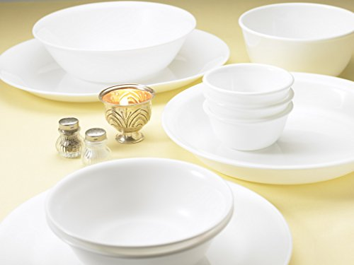Corelle Livingware Winter Frost White Dinner Set, 21-Pieces