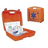 Valigia pensile con contenuti del primo soccorso Maxicases in polipropilene colore arancio 32 x 28 x 12 cm
