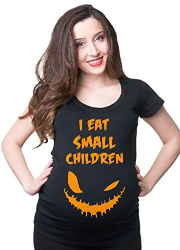 Silk Road Tees Halloween Schwangerschafts-T-Shirt Lustiges Halloween-Kostüm-Frauen Schwangerschafts-Top Small Grau (Halloween-kostüm-mutterschafts-t-shirt)