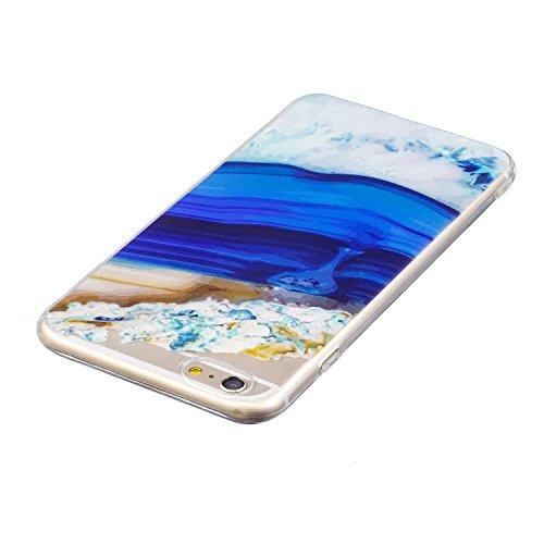 iPhone 6 Plus Hülle, Voguecase Silikon Schutzhülle / Case / Cover / Hülle / TPU Gel Skin für Apple iPhone 6 Plus/6S Plus 5.5(Lila-Kleid-Mädchen 01) + Gratis Universal Eingabestift Aquarell 12