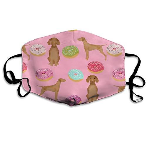 Vizsla Hunde-Maske, Donut-Futtermittel, lustig, süßes rosa Donuts, Love Dogs, Love Donuts, Anti-Staub, Anti-Verschmutzung, waschbar, wiederverwendbare Mundmasken