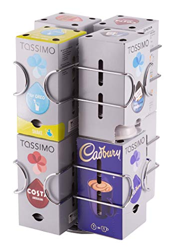 Dispensador de cápsulas tassimo, 64 cápsulas | Base rotativa |Garantía Babavoom