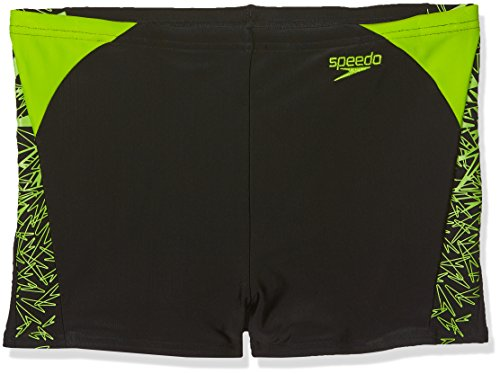 Speedo Jungen Boom Splice Brief, Jungen, Boom Splice, Black/Apple Green