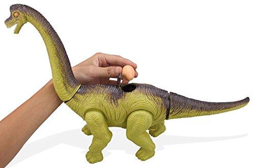 Top Race Elektronischer Dinosaurier mit Batterie Dinosaurier mit Funktion Eiablage Dinosaurier mit Geräusch und Lichtern Dinosaurier Roboter Spielzeug