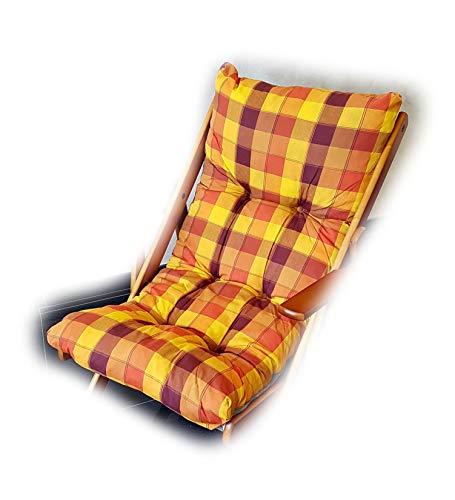 Totò piccinni cuscino imbottito di ricambio per poltrona sedia sdraio harmony relax, 105x55x14cm (giallo/arancione)