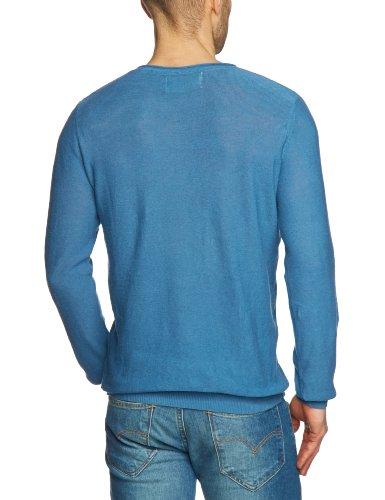 JACK & JONES Herren Pullover 12064025 BRIGHT O-NECK Blau (FEDERAL BLUE)