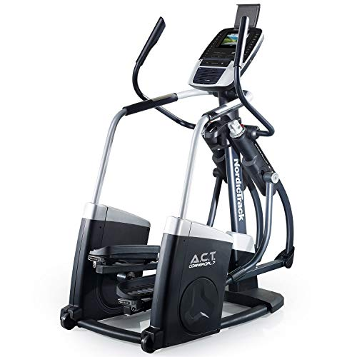 Nordic Track Unisex's New ACT Commercial 7 Elliptical Trainer (12 Month iFIT Coach Subscription Included) Cross, Black, adults