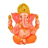 Ganesh Ji / Ganpati Bappa Statue Spiritual idols Handmade Dimension- 4 X 2.5 X 5 Inches By Papilon for Office Temple Home decor and Gifting