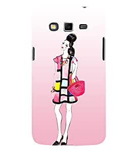Shopping Girl Fashion 3D Hard Polycarbonate Designer Back Case Cover for Samsung Galaxy Grand Neo Plus :: Samsung Galaxy Grand Neo Plus i9060i