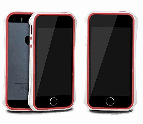 Aero 5 Alliage pare-chocs Téléphone portable étui cas pour Apple iPhone 5 / 5S - Nouveau Design de 2016 - Noir & Bleu BlancRouge