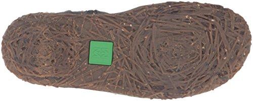 El Naturalista N758 Soft Grain-Lux Suede Wood / Nido, Stivali corti Donna Blu (Ocean)