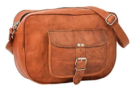 Handtasche Umhängetasche Ledertasche Abendtasche Vintage Braun Leder -