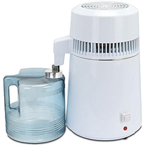 Wunicorn 4L Cucina Ufficio acciaio inossidabile interno del serbatoio PureWater Distiller purificatore filtro 750W