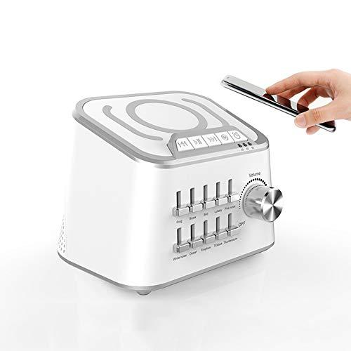 Gn shop White Noise Machine, 10 High Fidelity Rilassante E Lenitivo Nature Sounds Auto-off Timer Portatile Terapia del Sonno for Casa, Ufficio, Baby & Viaggi