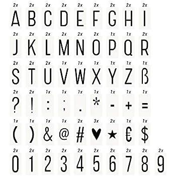 Butlers Blockbuster Extra Zahlen Zeichen Für Light Box