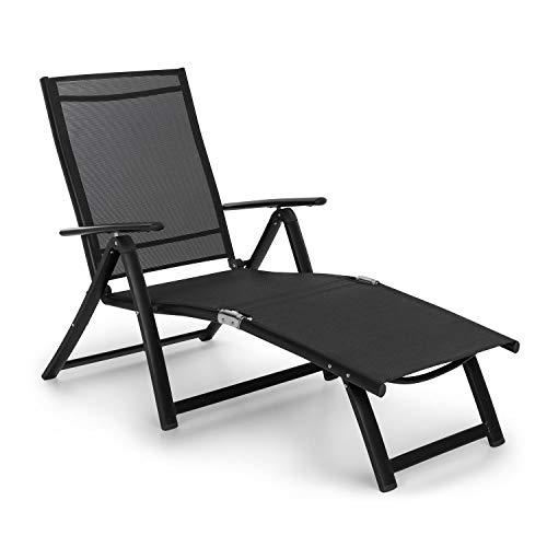 Blumfeldt pomporto lounge • sdraio da giardino • sedia a sdraio • superficie: 173,5 x 51 cm • schienale regolabile in altezza in 7 punti • base idrorepellente • comfortmesh • pieghevole • antracite