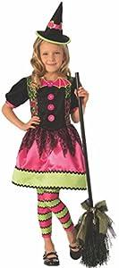 Halloween - Disfraz de Bruja vampiresa para niña, color rosa - 5-7 años (Rubie
