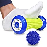 Beenax Foot Massage Roller and Hard Spiky Ball Set - Perfect For Plantar Fasciitis Recovery, Wrists and Forearms Exercise, Arm Pain, Trigger Point - Designed To Relieve Stress and Relax Tight Muscles