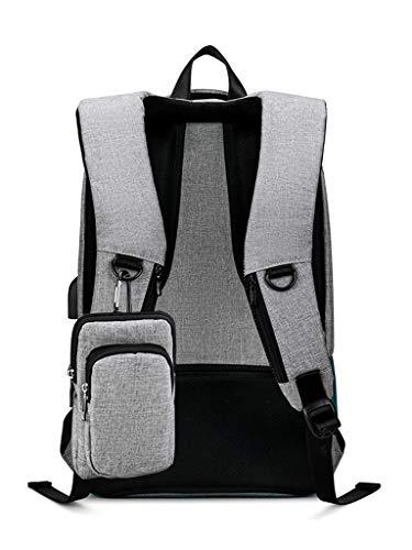 CHENG BAG Business-Rucksack, Paket Laptop USB + Kopfhöreranschluss Reise Tragbar Geschäftsreise Verhandlung Büro Hohe Kapazität Wasserdicht Einfach Jugend -