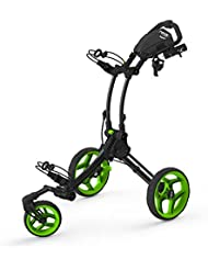 Clicgear Rovic RV1S Swivel Golf Trolley, Color- Charcoal / Lime