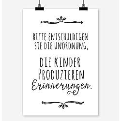 BITTE ENTSCHULDIGEN SIE DIE UNORDNUNG Kunstdruck Poster (A4)