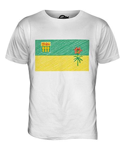 CandyMix Saskatchewan Kritzelte Flagge Herren T Shirt Weiß