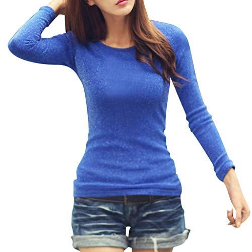 Pullover Sweatshirt für Damen,Kobay 2019 Halloween Heiligabend Weihnachten Damen Langarm Plus Samt Rundhals Stretch Lässige Bottoming Tops Bluse T Shirt Sweater -