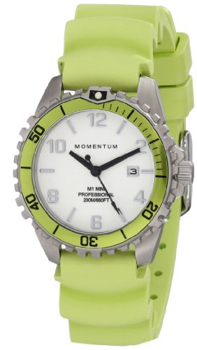 Momentum Womens Quartz Watch, Analogue Classic Display and Rubber Strap 1M-DV07WL1L
