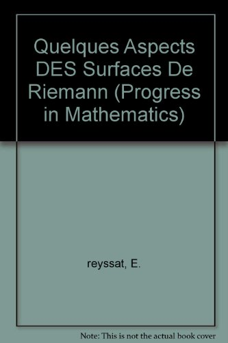 Quelques Aspects DES Surfaces De Riemann (Progress in Mathematics (Birkhauser Boston)) par E. reyssat