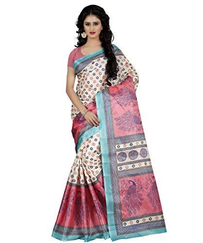 Being Banarasi Raw Silk Printed Saree Without Blouse (1151_D)