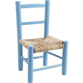 AUBRY GASPARD NCE 1220 Chaise Enfant en hêtre laqué Bleu Ciel