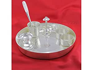 Puja Thali in german silver