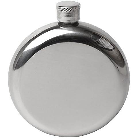 Efbock 5 oz Ronda del pote del vino que acampa de la garrafa de la cadera 2pcs Frasco del acero inoxidable del pote del vino