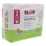 HiPP Babysanft Windeln für Babys, Mit Nässeindikator, Größe 2, Geeignet von 3-6 kg, Größe 56-68, 31 Stück